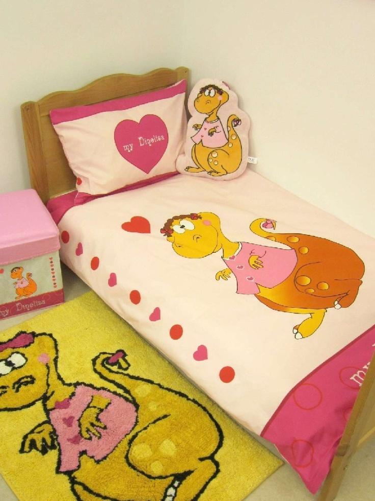 dinorsaur bedding for girls | ... Bedding » Girls Cot Bed Duvet Covers » Dinolisa Cot Bed Bedding SALE