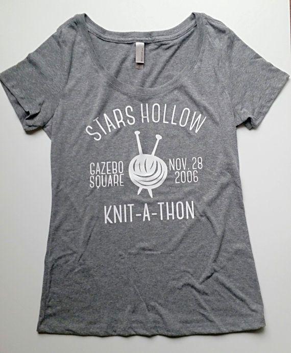 Gilmore Girls Stars Hollow Knit-A-Thon Tee by bigdaydesignco Gilmore Girls Shirt