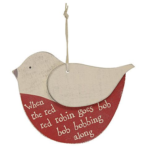 Buy East of India Robin Decoration, Cream/Red Online at johnlewis.com