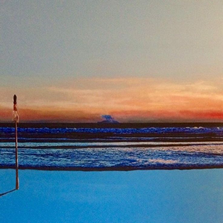 """Our very talented local Te Mete Smith, from Opotiki NZ! Here's his latest work """"Whaakari- White Island and Taiaha"""". To view more amazing art work please visit us www.koruenterprises.com.au"""