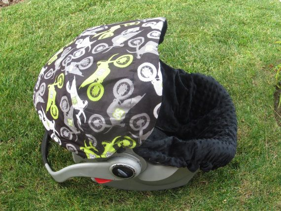Infant Car Seat Cover Motorcross by ChubbyBaby on Etsy, $65.00
