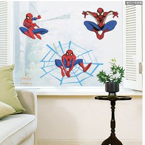 Cartoon Spider Man Removable Wall Stickers