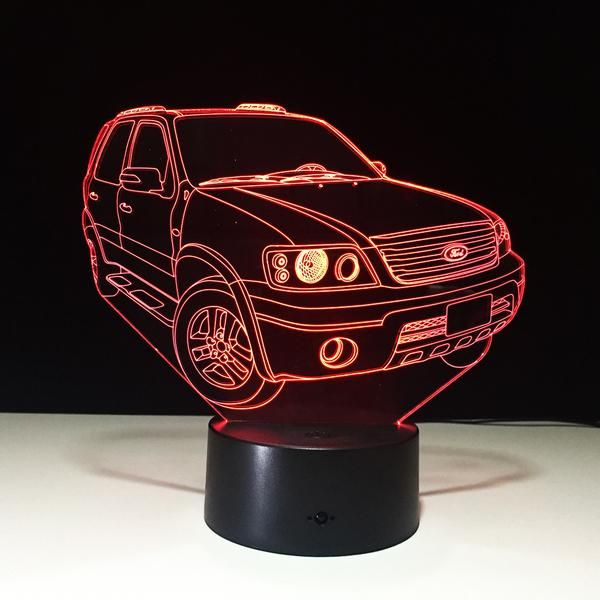 3d Ford Suv Auto Illusion Led Lamp Led Lamp Illusions