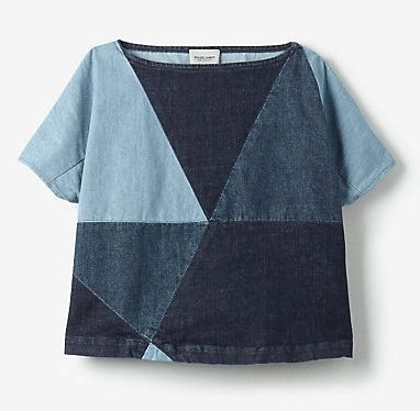 My sewing projects - Essential Denim Top - Tips for recycling & mixing fabrics