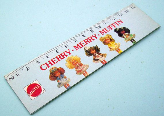 Cherry Merry Muffin Ruler. Barbie Doll Ruler. by JirjiMirji, €9.90