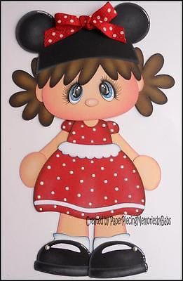 Premade Minnie Girl Paper Piecing for Scrapbook Pages-By Babs