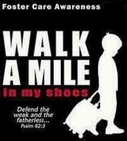 Oklahoma Foster Care Awareness. Saturday April 28th 9am Bricktown & Tulsa Metro area. Come walk a mile with me!