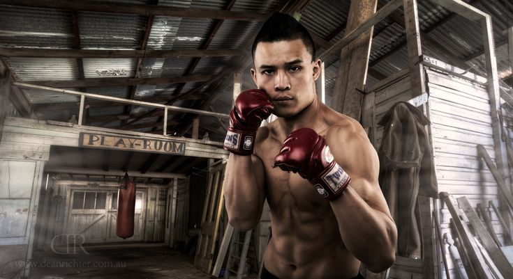 David Tong, Mixed Martial Artist shaping up after training in workout shed. See more of my work at www.deanrichter.com.au.