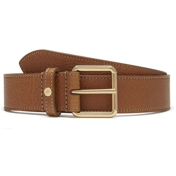 Mulberry 30mm Belt (£195) ❤ liked on Polyvore featuring accessories, belts, oak, leather buckle belt, leather belts and buckle belt