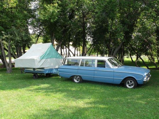 61 ford falcon w/ 68 caribou camper