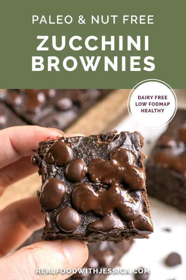 These Paleo Nut Free Zucchini Brownies Are Fudgy Sweet And So