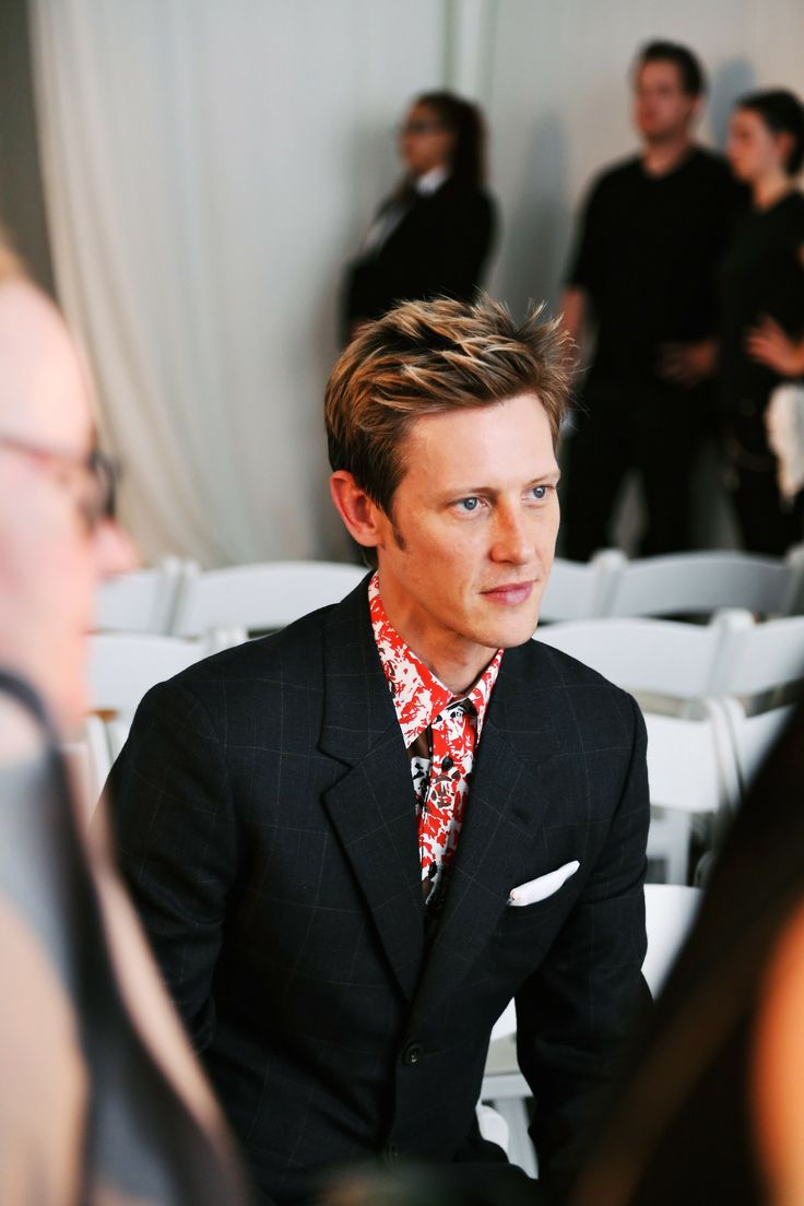 Gabriel Mann aka Nolan Ross from Revenge at the Sass & Bide SS 2014 show.