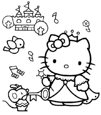 Kleurplaten Hello Kitty Princess.Hello Kitty Princess Parties For Kylie Hello Kitty Coloring