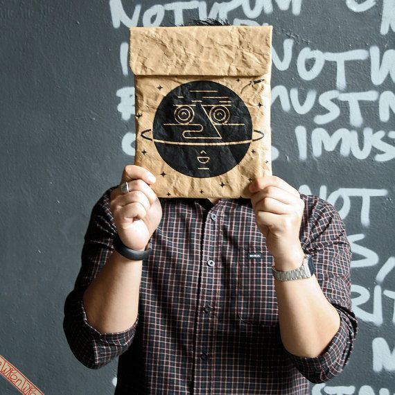 Man In the Moon iPad & Tablet Paper Sleeve by thewren on Etsy, $36.00