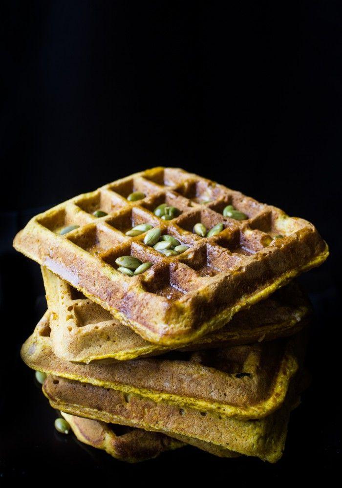 DISH   pumpkin waffles + maple whiskey sauce eathalifax.ca #pumpkin #breakfast #brunch