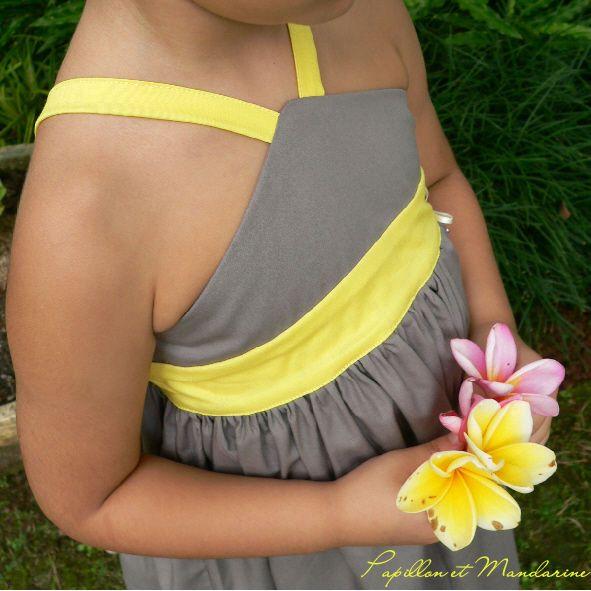 Pimprenelle robe Papillon & Mandarine