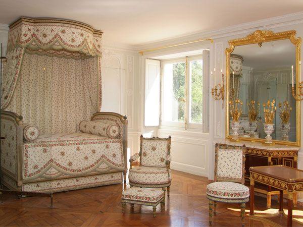 Detail du lit de Marie-Antoinette