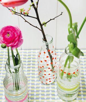 Mooie simpel te maken bloemenvaas... das voor het volgende vrije momentje