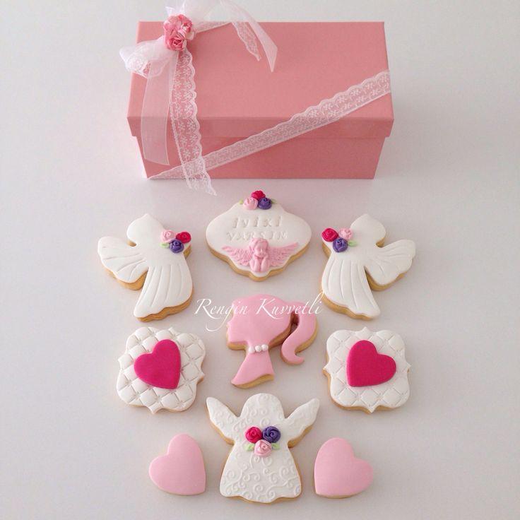 Kurabiye Hediye Kutuları / Fondant Cookies Gift Boxes