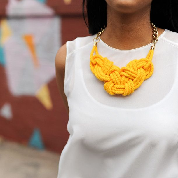 Rise And Shine Necklace Yellow | Knotty Gal | Fab.com