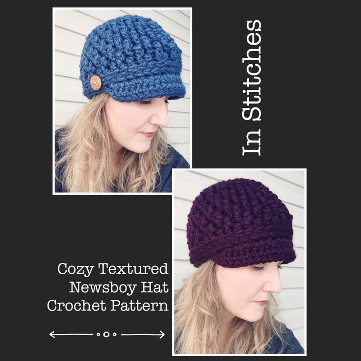Check out my newest crochet pattern release - the Cozy Textured Newsboy Hat! This is a super comfy and very warm Newsboy style hat with great texture. Size is for the average adult women.