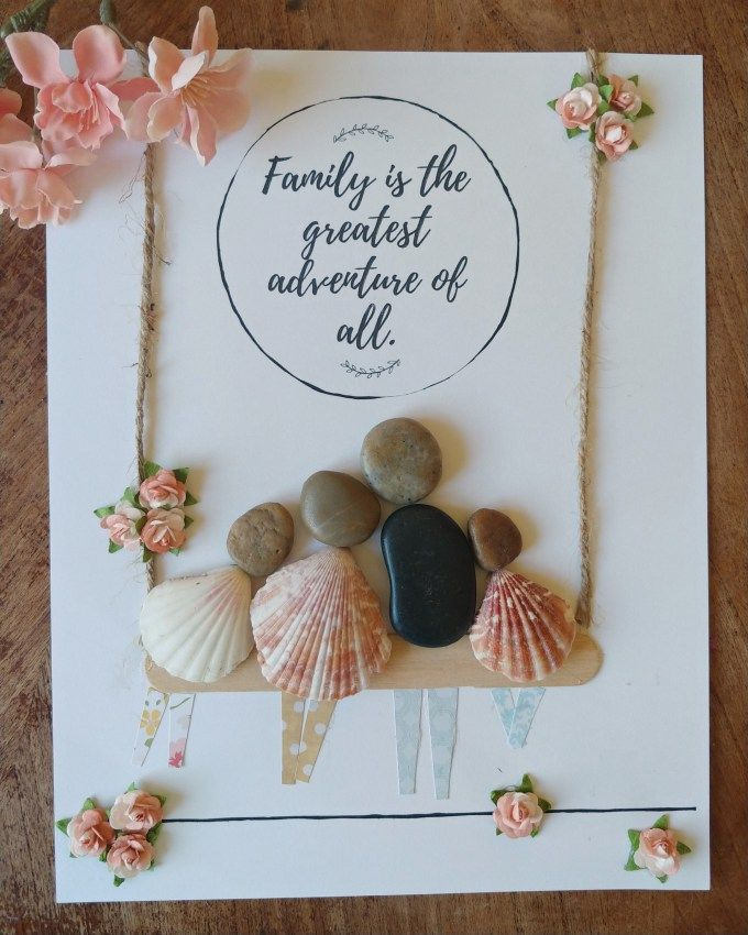 Mother's Day Pebble Art + Free Printable