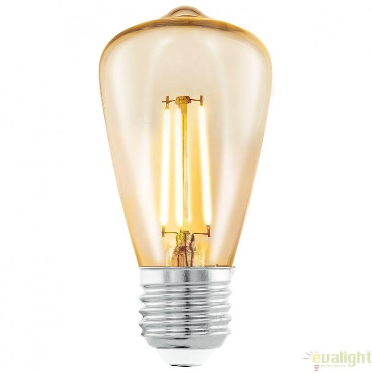 Bec E27-LED-ST48 3,5W 2200k 11553 EL - Corpuri de iluminat, lustre, aplice
