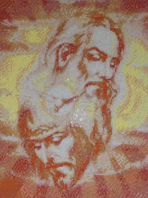 Holy Trinity Diamond Painting Finished Completed Wall Decor