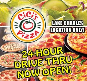 [SPONSORED] CiCi's Pizza Lake Charles now caters to your overnight cravings with a 24 Hour Drive Thru! SHARE THIS and spread the word!
