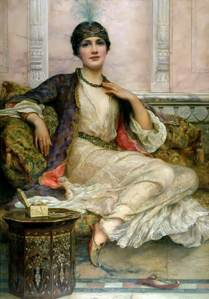 """The Jade Necklace"", By ~ William Clarke Wontner ~ 1857 - 1930."