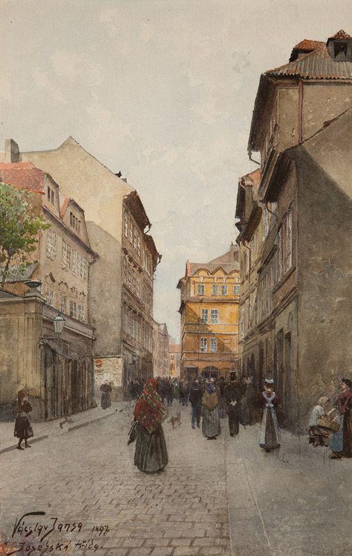Václav Jansa, Josefská třída, 1897, zdroj: Muzeum hlavního města Prahy