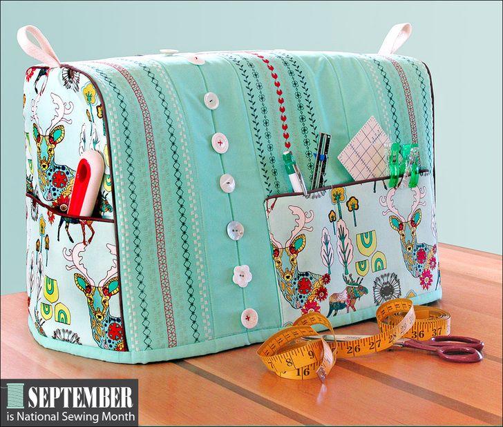 Coser cubierta Máquina con costuras decorativas Acentos: Es el Mes Nacional de costura! | Sew4Home
