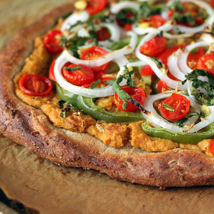 Vegan Richa: Pizza Round up. Chana Masala hummus Pizza, Quinoa crust and more. vegan