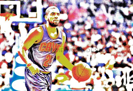 Kyrie Irving Cleveland Caveliers Poster Print by josiejamesdesign