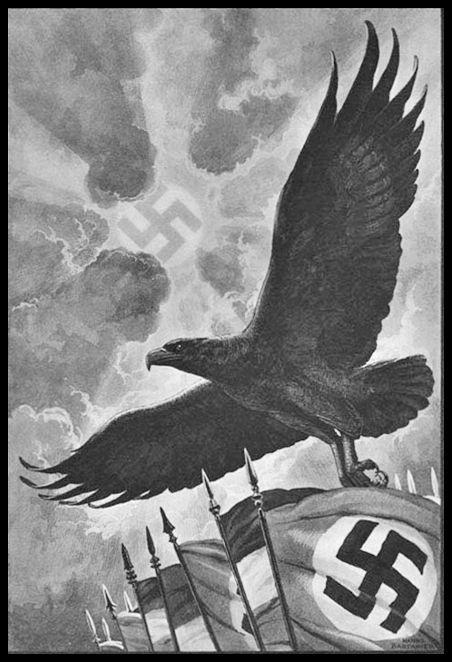 third reich propaganda Poster