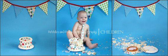 smash the cakeCake Smash Photos, Birthday Parties, Cake Photos, Baby Shower Buntings, Fabrics Banners, Children Banners, Parties Ideas, Cake Smashers, 1St Birthdays