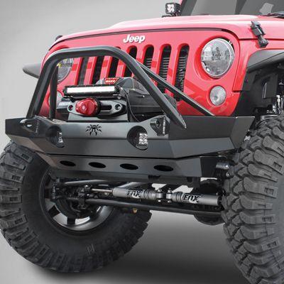 Jeep Wrangler Rubicon X >> Poison Spyder Brawler™ Mid-Width Front Bumper with Brawler Bar for 07-17 Jeep Wrangler JK & JK ...