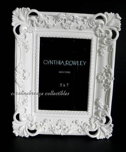 Baroque Chic Gloss White Photo Frame 5x7 Cynthia Rowley