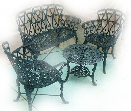 Victorian Garden Chairs Are Handmade Of Cast Aluminum. This Production  Technique Makes Our Garden Furniture Strong And Rigid.