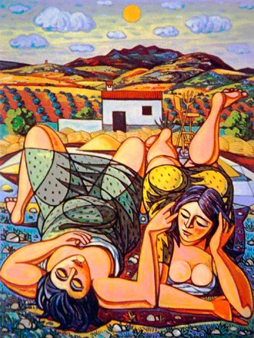 Rafael Zabaleta, 'Las dos mujeres',  The two women,
