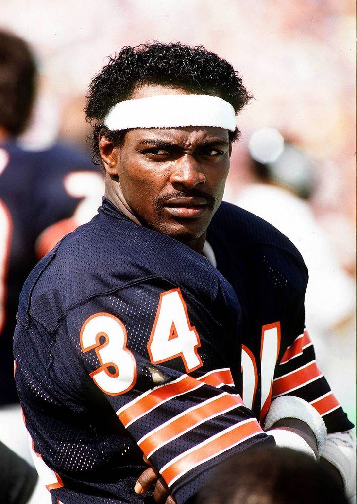 Walter Payton, Chicago Bears;  Was the nanny & still friends with his right hand woman in business. When I lived in Illinois, being googley eyed with Jamie. ;-)