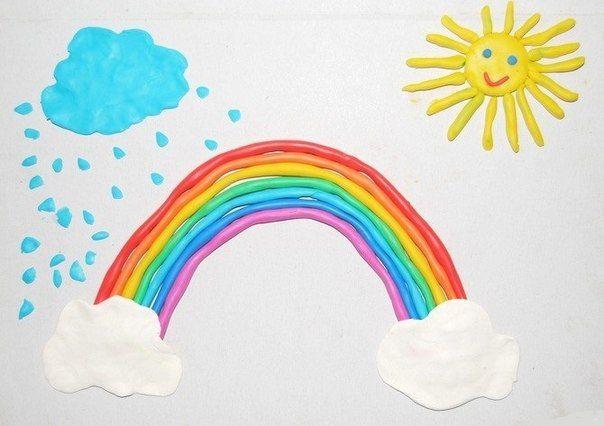 Рисование пластилиновыми жгутиками - Поделки с детьми   Деткиподелки