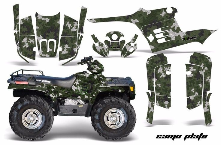 AMR Racing ATV Graphic Kit Polaris Sportsman 500 Decal Sticker 95-04 CAMOPLATE G