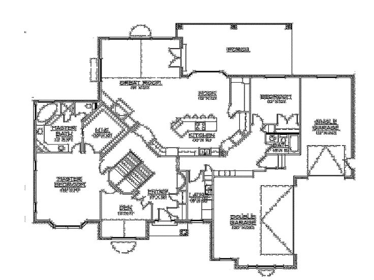 rambler floor plans walkout basement by builderhouseplans rambler homes custom rambler floor plans home design
