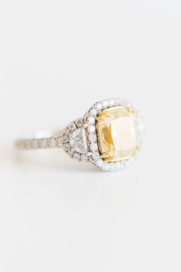 Cute Radiant Cut Citrine Engagement Ring A radiant cut ensures your ring finger sparkles This