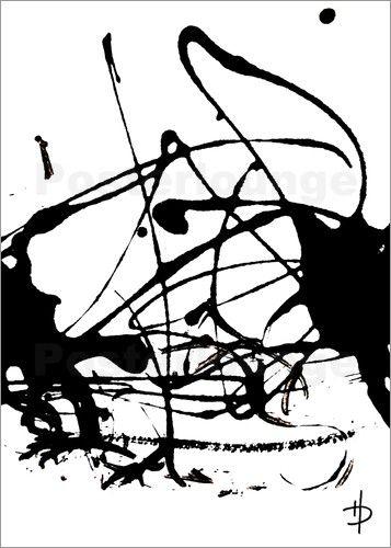 Dubis Heike Kunst-Atelier RaumKunst - abstrakt schwarz weiss 5 - wohnzimmer schwarz wei