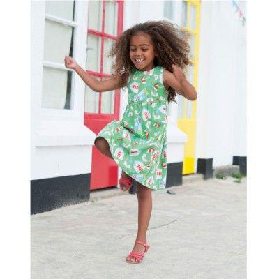 Frugi Παιδικό Αμάνικο Φορεματάκι – Πράσινο - Sunnyside