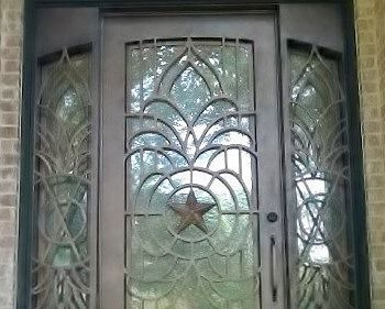 Custom Texas star wrought iron door aaleadedglass.com & 60 best Wrought Iron Doors images on Pinterest Pezcame.Com