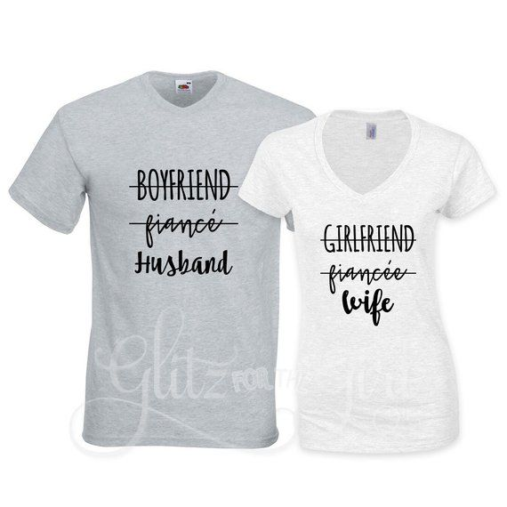 Wifey Hubby Premium T-Shirt Valentines Wife Fiance Girlfriend Boyfriend T-Shirt