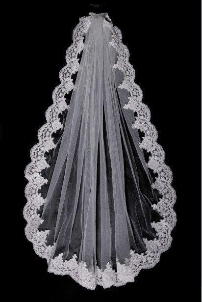 Custom Make Vintage White Ivory Wedding Veil Bridal by wonderxue, $24.99